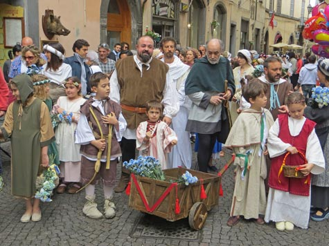 Traditional Dress in Orvieto Italy